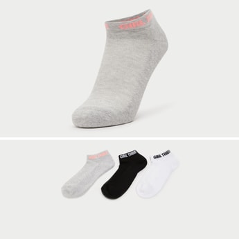 Set of 3 - Ankle Length Printed Sports Socks