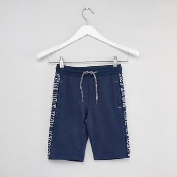 Printed Shorts with 3-Pockets and Drawstring Closure