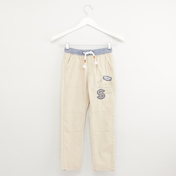 Printed Pants with Pocket Detail and Drawstring Waistband