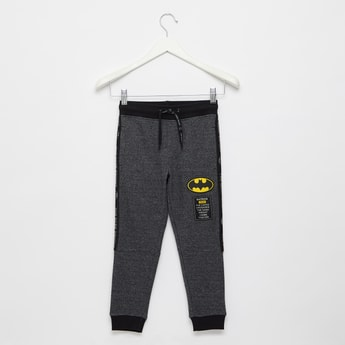 Batman Print Jog Pants with Elasticated Drawstring Waistband