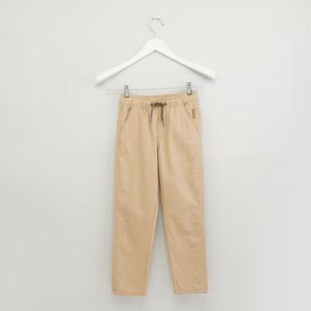 Plain Pants with Pocket Detail and Elasticised Waistband