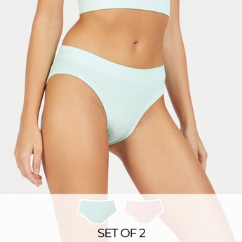 Set of 2 - Solid Hipster Briefs
