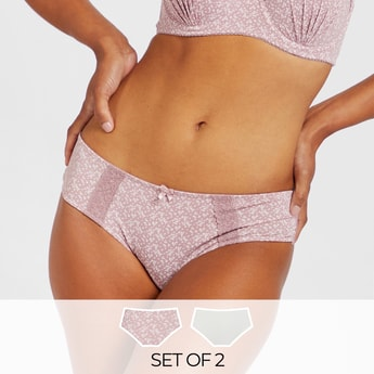 Set of 2 - Assorted Boyshorts with Lace Detail