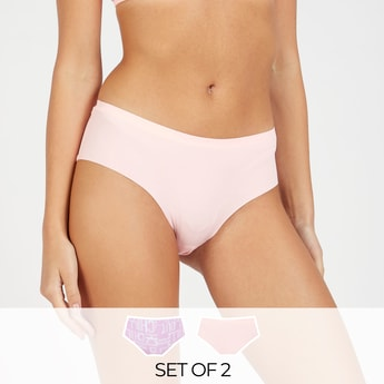 Set of 2 - Laser Cut Briefs with Elasticised Waistband