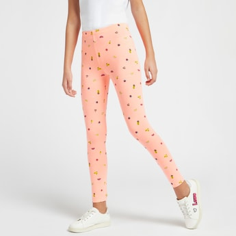Printed Ankle Length Leggings with Elasticated Waistband
