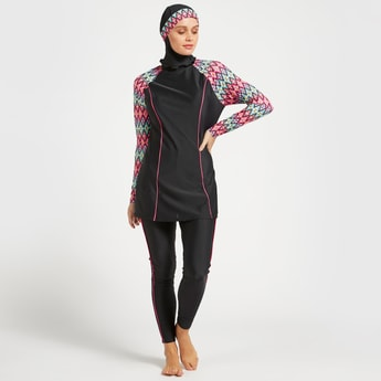 Printed 2-Piece Burkini Set
