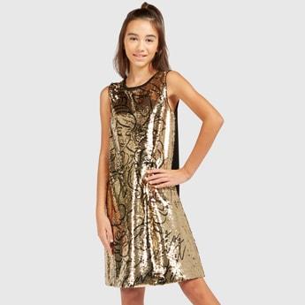 Princess Sequin Detail Sleeveless Dress