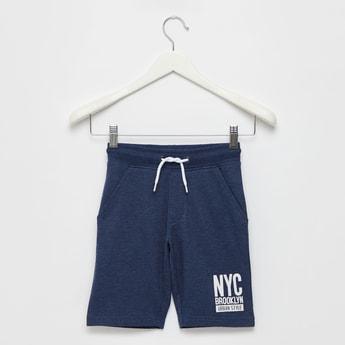 Shorts with Elasticated Drawstring Waist and Pockets