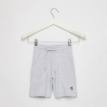 Textured Pique Shorts with Pockets and Drawstring