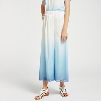 Ankle Length Ombre Culottes with Elasticised Waistband