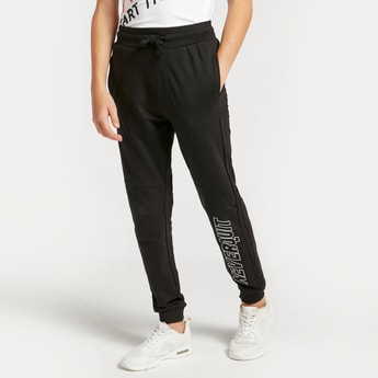 Printed Full Length Joggers with Drawstring Closure and Pockets