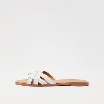 Braided Slip-On Flat Sandals
