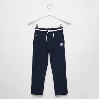 Solid Knit Pants with Pocket Detail and Drawstring Closure
