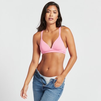 Solid Padded Non-Wired Racerback Bra