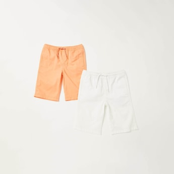 Pack of 2 - Solid Shorts with Pockets and Drawstring