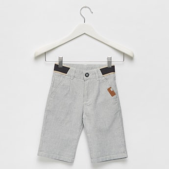 Dobby Shorts with Elasticised Waistband and Pocket Detail