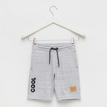 Injected Shorts with Elasticated Drawstring Waist and Pockets