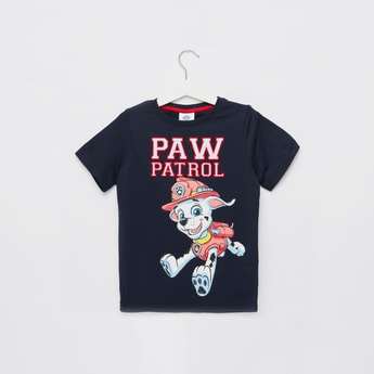 PAW Patrol Graphic Print T-shirt with Round Neck and Short Sleeves