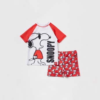 Snoopy Print 2-Piece Swim Set