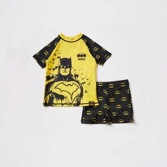 Batman Print 2-Piece Swim Set