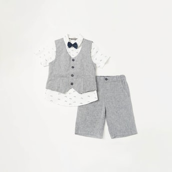 Textured 3-Piece Clothing Set