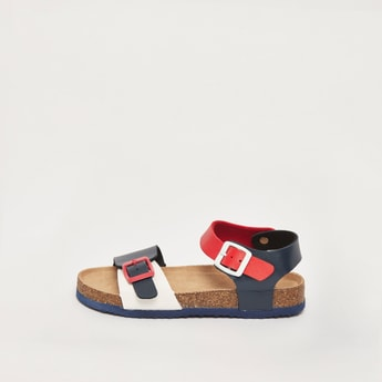 Colourblocked Sandals with Buckle Closure