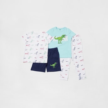 Printed 4-Piece Sleepwear Set