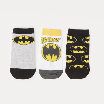 جوارب بطول الكاحل بطبعات باتمان - طقم من 3 أزواج