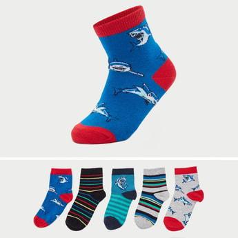 Set of 5 - Printed Ankle Length Fashion Socks