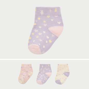 Set of 3 - Printed Infant Socks