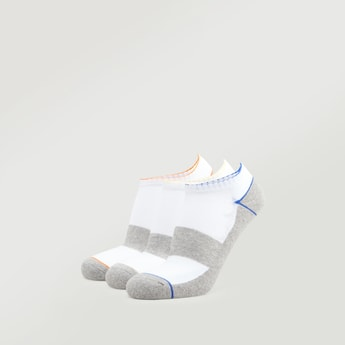 Set of 3 - Textured Ankle Length Socks with Cuffed Hem