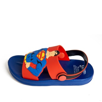 Superman Textured Sandals with Straps