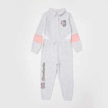 Hello Kitty Printed Long Sleeves Jumpsuit with Drawstring