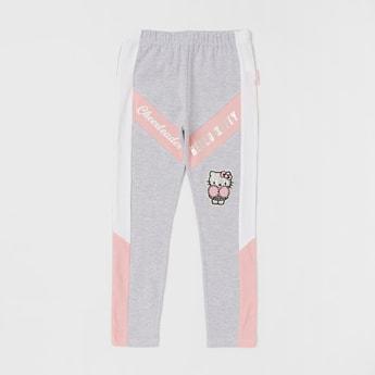 Hello Kitty Print Leggings with Elasticated Waistband