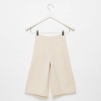 Textured Culottes with Elasticised Waistband and Pocket Detail