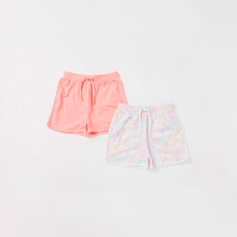 Set of 2 - Assorted Shorts with Drawstring Closure