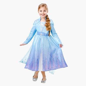فستان طويل الأميرة إلسا بأكتاف منمقة