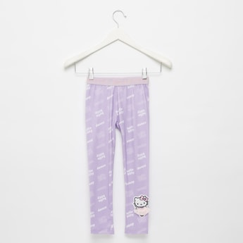 Skinny Fit All-Over Hello Kitty Print Leggings with Elasticised Waist