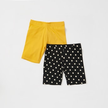 Set of 2 - Cycling Shorts with Elasticised Waistband