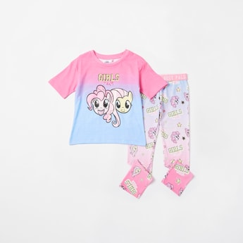 My Little Pony Print T-shirt and Full Length Leggings Set