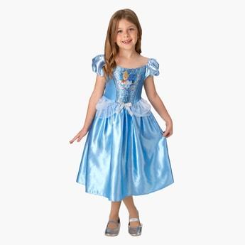 فستان متوسط الطول بتصميم سندريلا بأكمام منفوخة وتفاصيل فيونكة