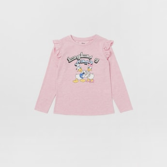 Daisy Duck T-shirt with Long Sleeves and Ruffle Detail
