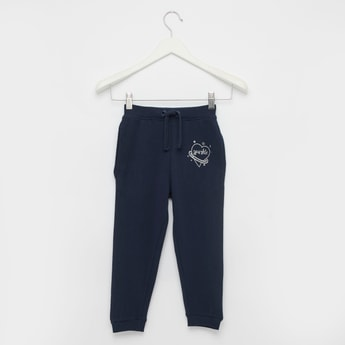 Full Length Solid Joggers with Cuffs and Drawstring Closure