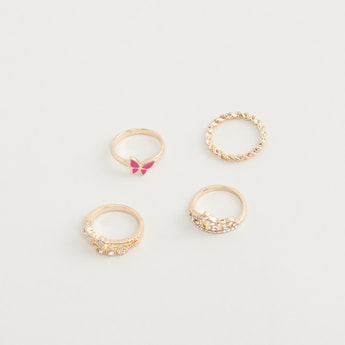 Assorted 4-Piece Ring Set