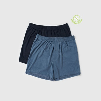 Set of 2 - Solid Boxer Briefs with Elasticised Waistband