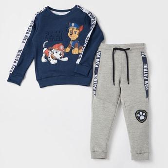 PAW Patrol Print Sweatshirt with Jog Pants Set