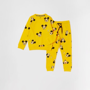 Mickey Mouse Printed Sweatshirt and Joggers Set
