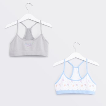 Set of 2 - Printed Seamless Bra with Racerback