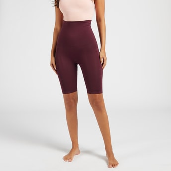 Solid High-Rise Leg Shaper with Elasticised Waistband
