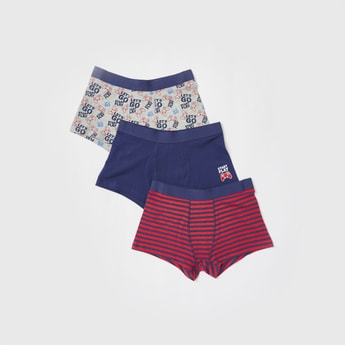 Set of 3 - Assorted Briefs with Elasticated Waistband